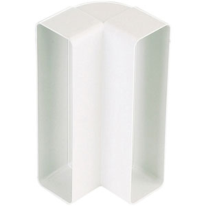 Coude vertical rectangulaire PVC